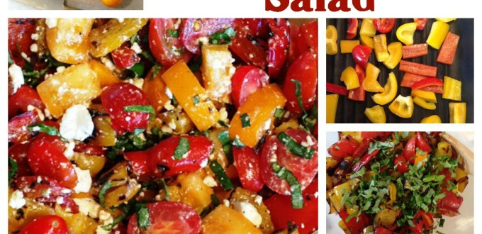 Tomato & Grilled Bell Pepper Salad - Life With Lorelai