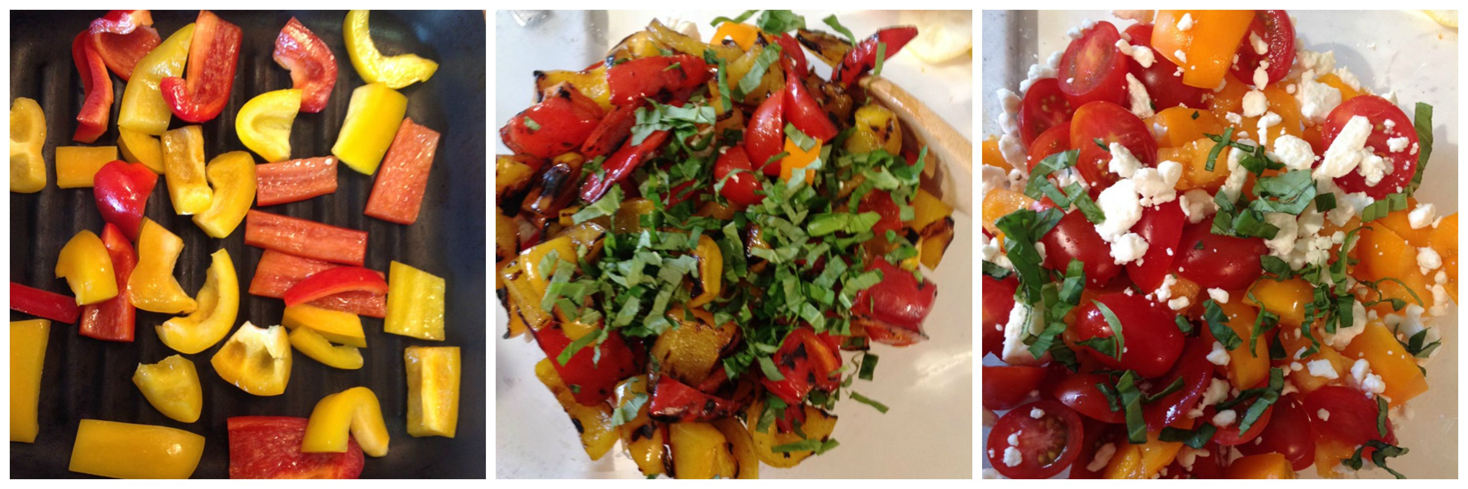 Tomato & Grilled Bell Pepper Salad Steps