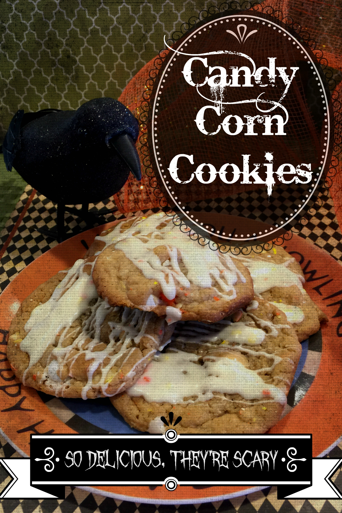 If you love candy corn, you will love these scary delicious cookies! Give them a try for Halloween.