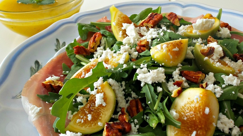 Fig and Argula Salad with Honey Lemon Dressing - HMLP 53 Feature