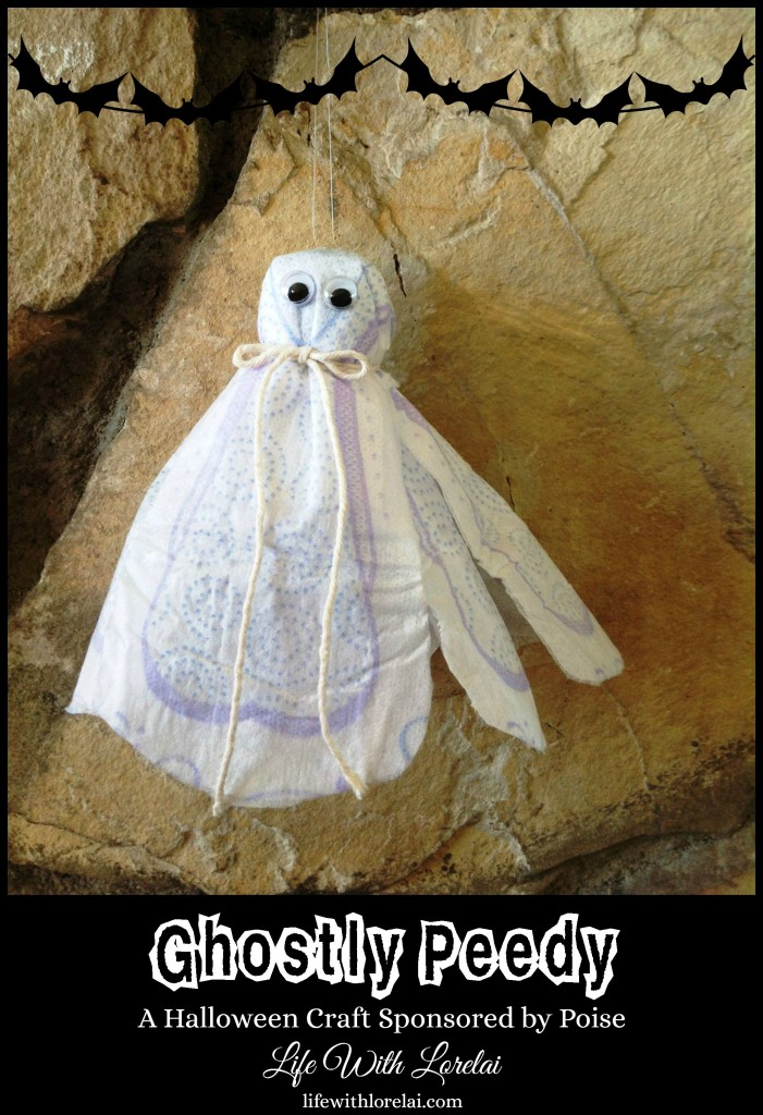 Ghostly Peedy - Poise Halloween Craft - Life With Lorelai 2