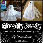 Poise Halloween Craft – Ghostly Peedy