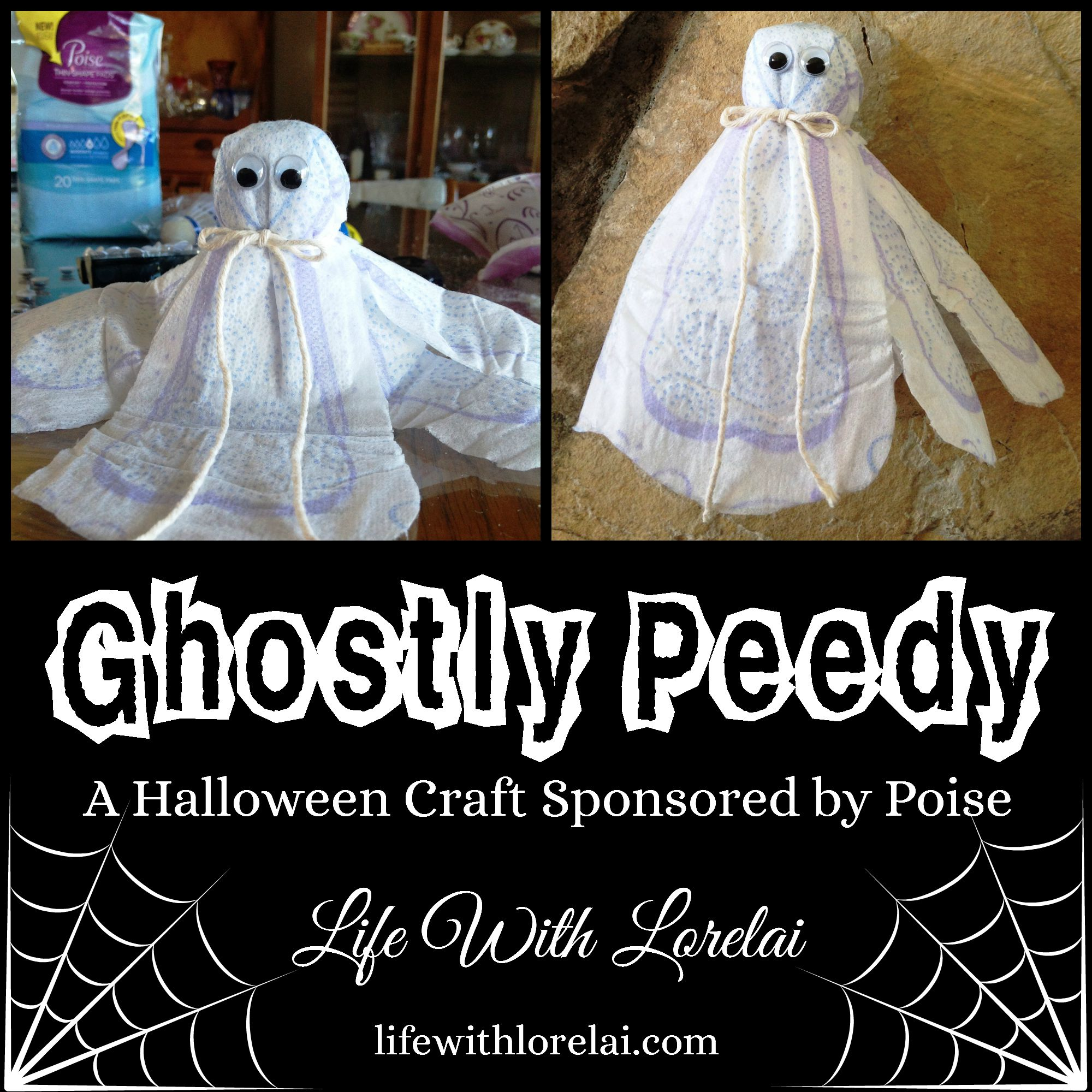 Poise Halloween Craft - Ghostly Peedy - Life With Lorelai