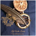 DIY Feathered Hair Clip – Anthropologie Inspired
