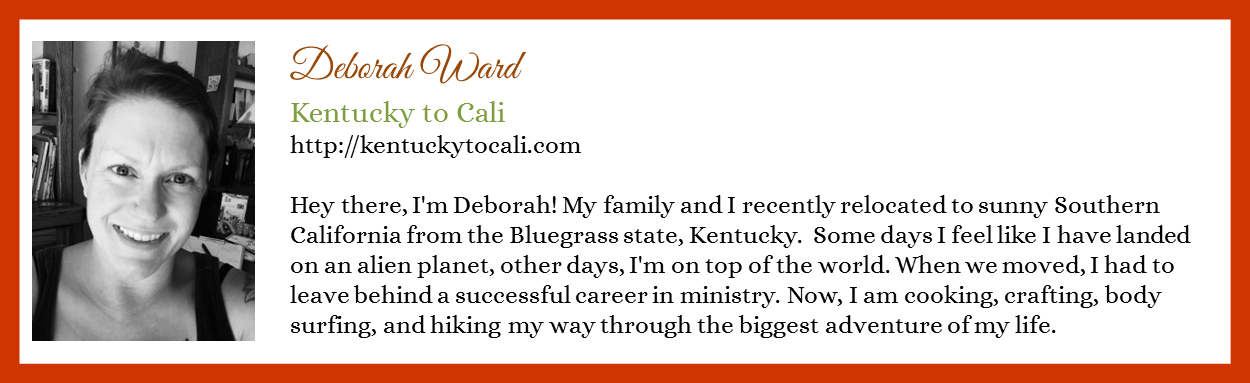 Deborah Ward - Kentucky to Cali - Contributor Bio Graphic