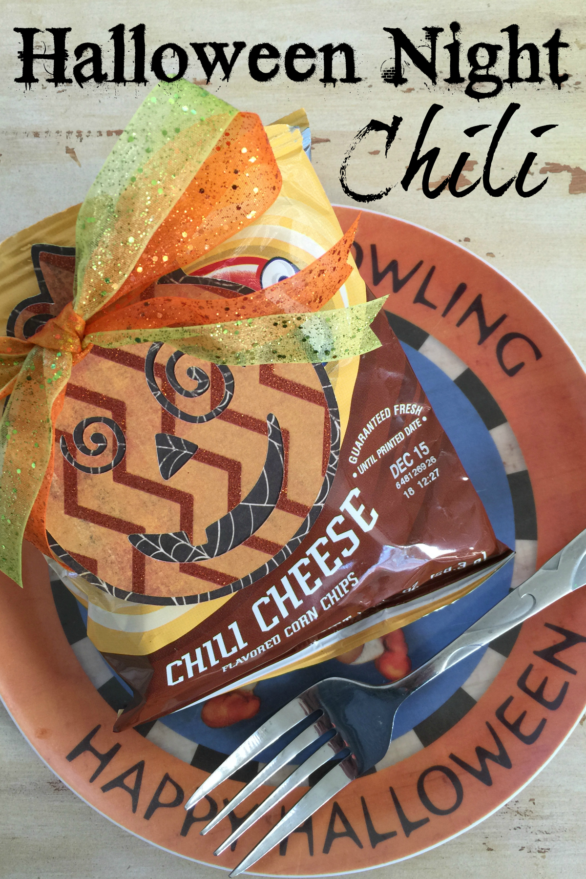 Serve up this fun Halloween Chili to keep your trick-or-treaters warm and happy! A quick, easy, and fun recipe.