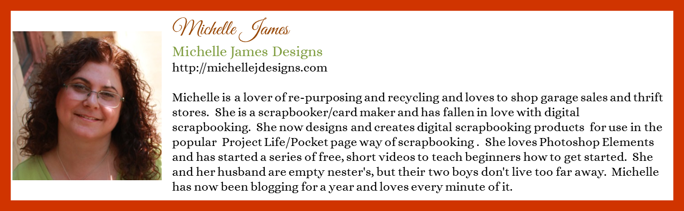 Michelle James - Michelle James Designs - Contributor Bio Graphic