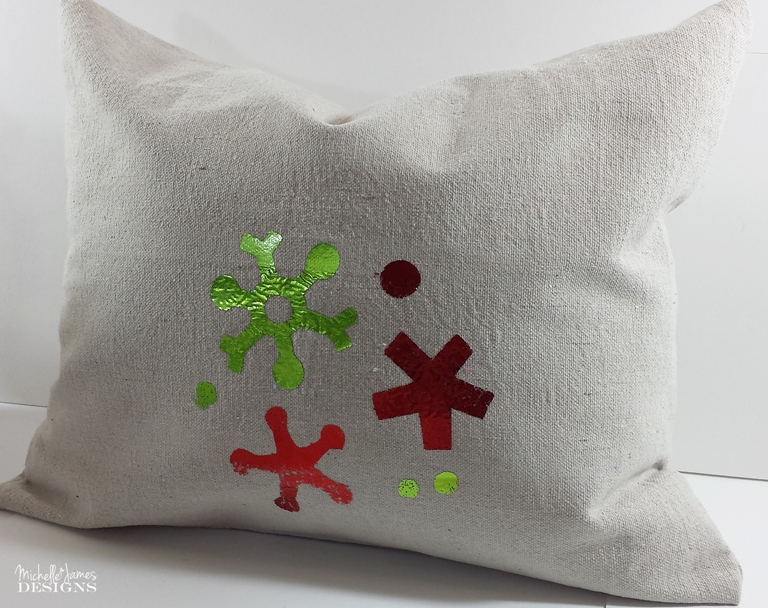 Michelle - Nov 3 - Holiday Foil Pillow - Pic 9