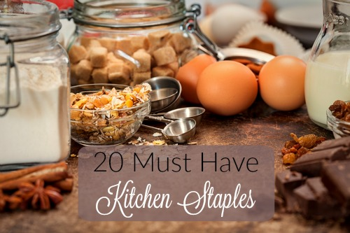20 Must Have Kitchen Staples - Becky Has Been Blogging - HMLP 63 Feature