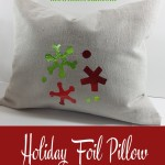 Holiday Foil Pillow Cover DIY