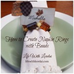 DIY Napkin Rings with Beads