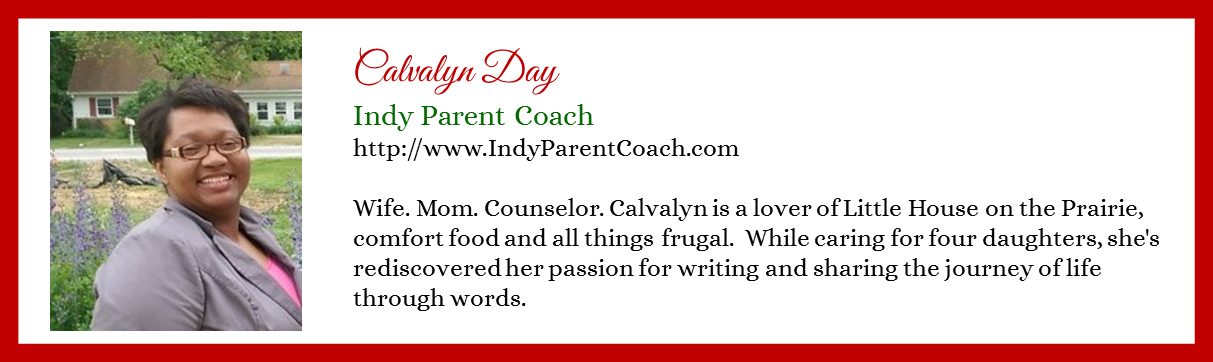 Calvalyn Day - Indy Parent Coach - Contributor Bio Graphic - Christmas 2015