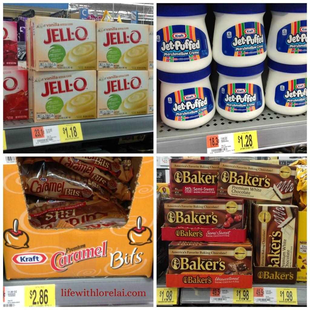 Caramel-Bits-Jell-O-Jet-Puffed-Marshmallow-Creme-Bakers-Chocolate-Bars-Kraft