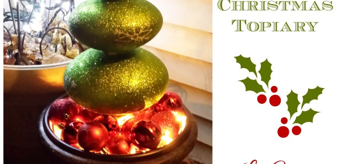 How-To Create A Christmas Topiary