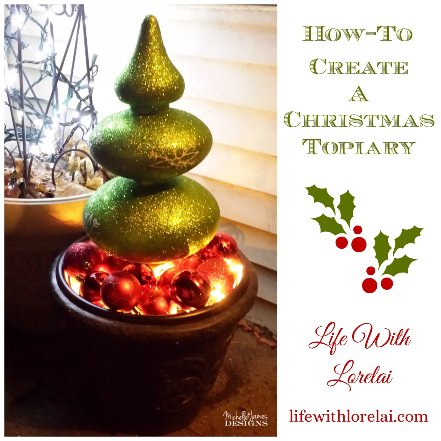 Christmas Topiary Decor.How To Create A Christmas Topiary Life With Lorelai
