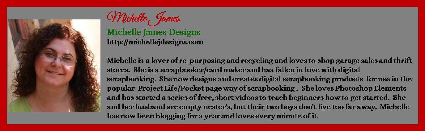 Michelle James - Michelle James Designs - Contributor Bio Graphic - Christmas 2015