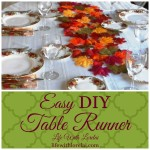 Easy DIY Table Runner