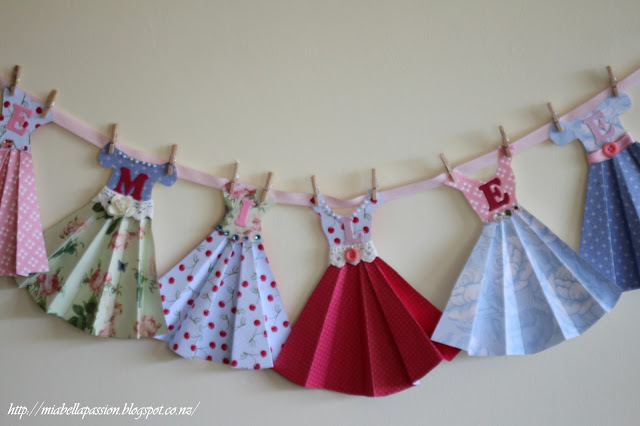 Paper Dress Bunting -Mia Bella Passions- Feature- HMLP 69