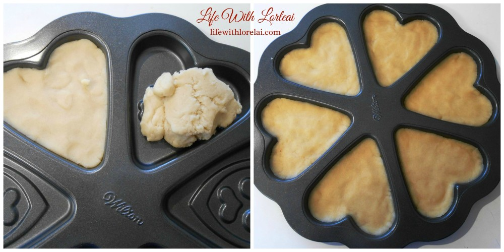 Filling the Cookie Pan with dough