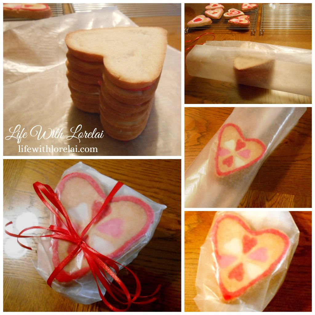 Sugar Cookies Wrapped with Wax Paper and Ribbon