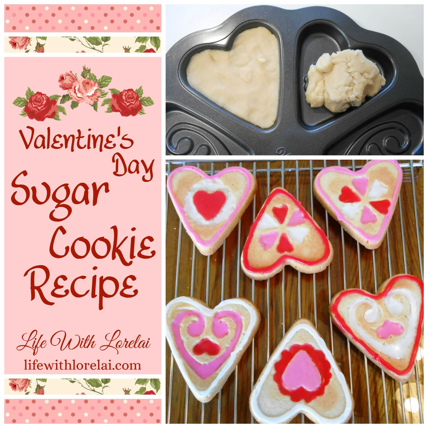 Valentine's Day Sugar Cookies Recipe - Bake them in a mold or use your cookie cutters!