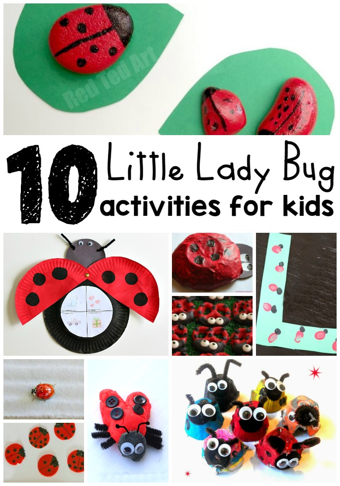 10 Little Lady Bug Activities for Kids - Baby Loving Mama - HMLP 76 - Feature
