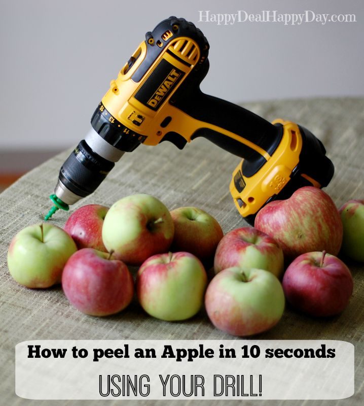An Apple Peeler that peels in 10 seconds--Your Drill - Happy Deal Happy Day - HMLP 80 - Feature