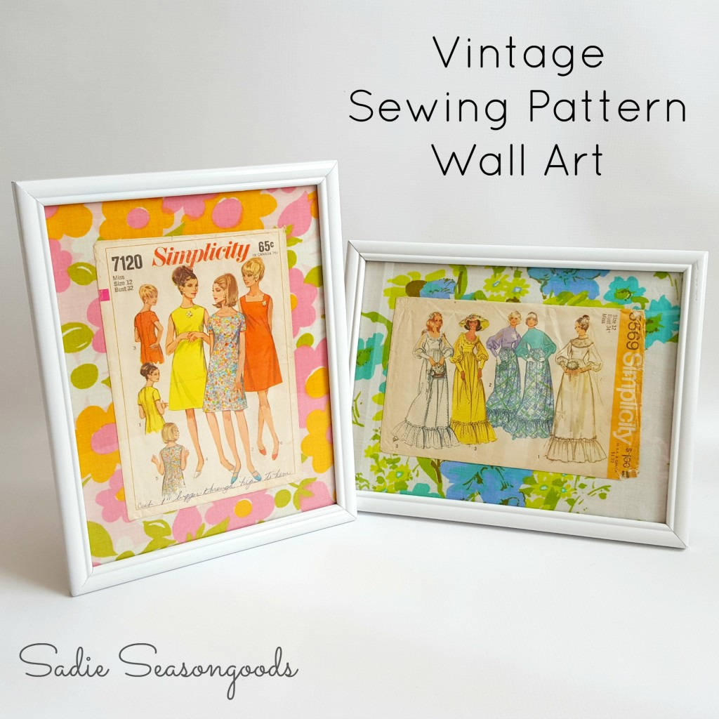 DIY Vintage Sewing Pattern Wall Art - Sadie Seasongoods - HMLP 77 Feature
