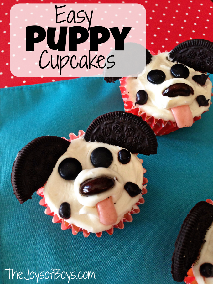 Easy Puppy Cupcakes - The Joys of Boys - HMLP 79 - Feature