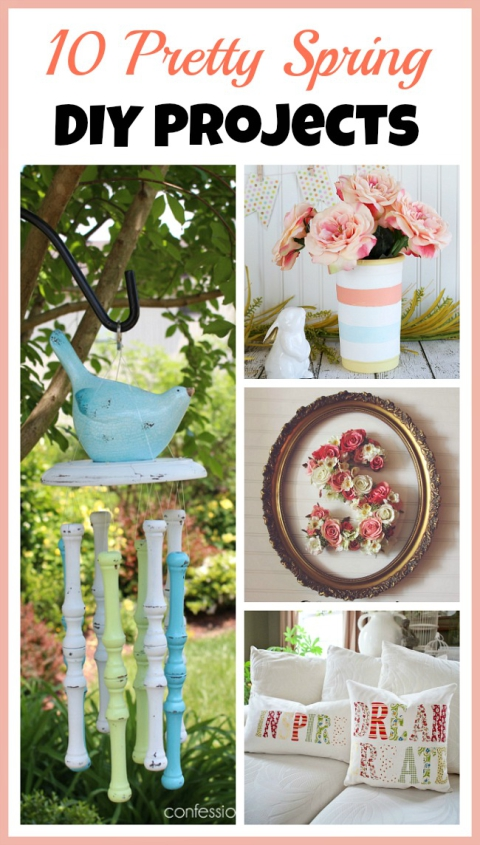 10 Pretty Spring DIY Projects - A Cultivated Nest - HMLP 82 - Feature
