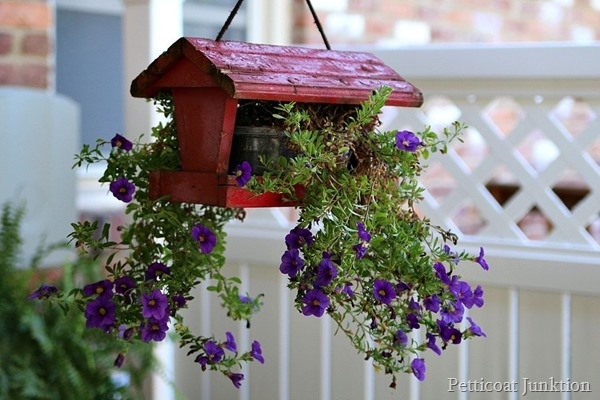 DIY Hanging Flower Planter Not For The Birds - Petticoat Junktion - HMLP 81 - Feature