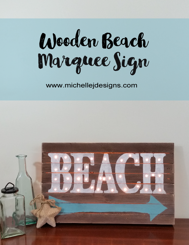 Wooden Beach Marquee Sign - Life With Lorelai