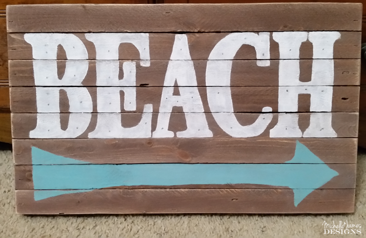 Michelle - Apr 5 - Wooden Beach Marquee Sign - Pic 4 copy