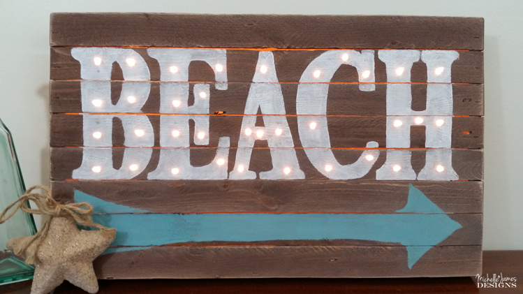 Michelle - Apr 5 - Wooden Beach Marquee Sign - Pic 7 copy