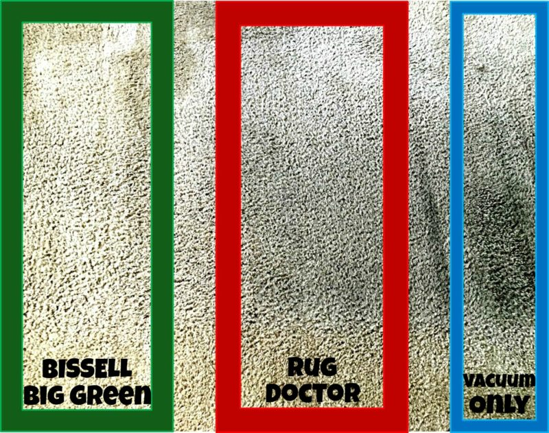 Cleaning Comparison BISSELL Big Green Rug Doctor Carpet