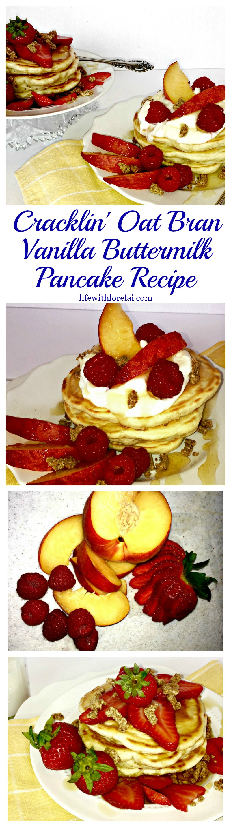Cracklin'-Oat-Bran-Vanilla-Buttermilk-Pancakes-Recipe-Long-Pin-Life With Lorelai
