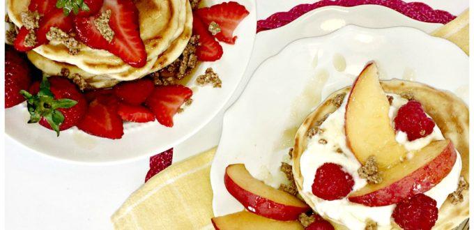 Cracklin' Oat Bran Vanilla Buttermilk Pancakes Recipe