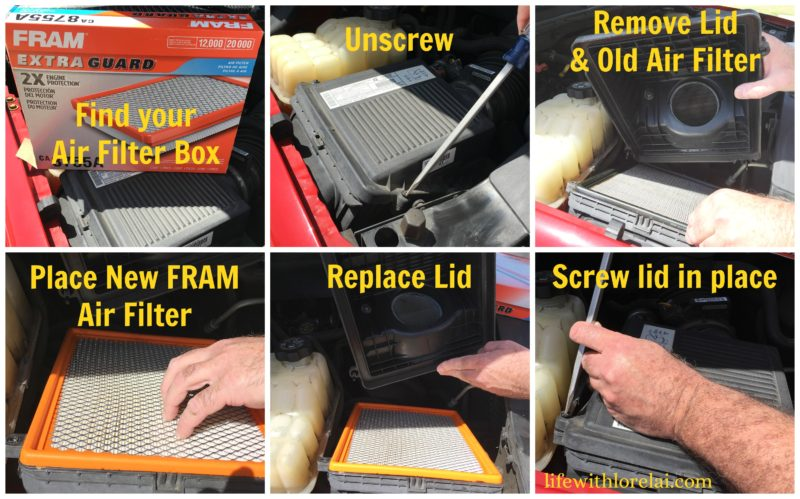 Car-Care-FRAM-Engine-Air-Filter-How-To-Change-Step-By-Step