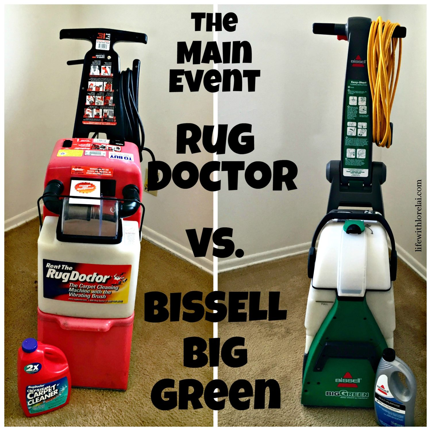 Main event rug doctor vs bissell big green