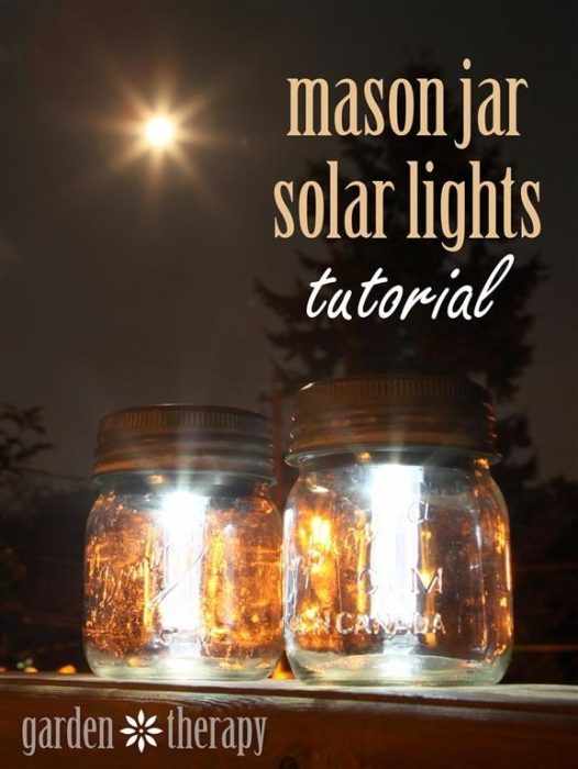 Mason Jar Solar Lights - Garden Therapy - HMLP 87 - Feature