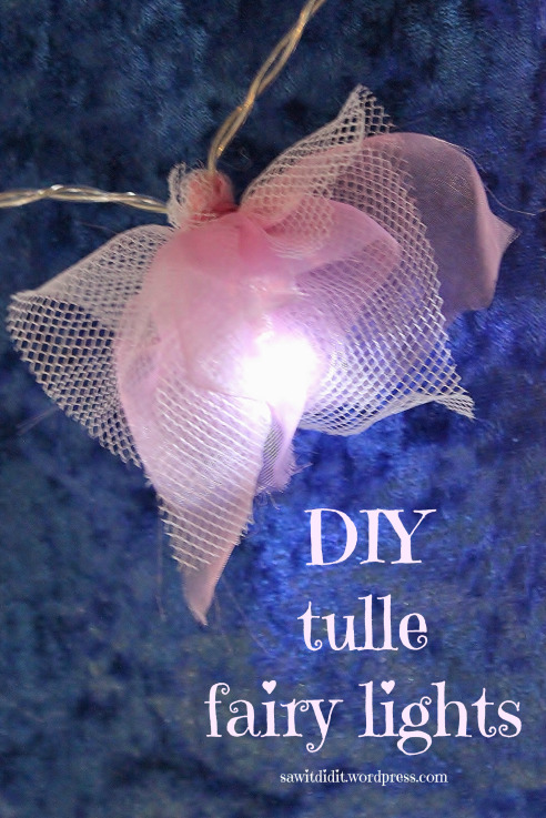DIY Tulle Fairy Lights - Saw It, Pinned It, Did It - HMLP 93 - Feature