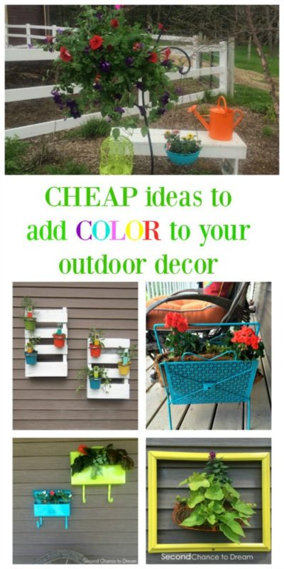 Cheap Ideas to Add Color to Your Outdoor Decor - Second Chance to Dream - HMLP 95 - Feature