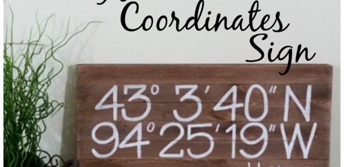 Coordinates Sign DIY