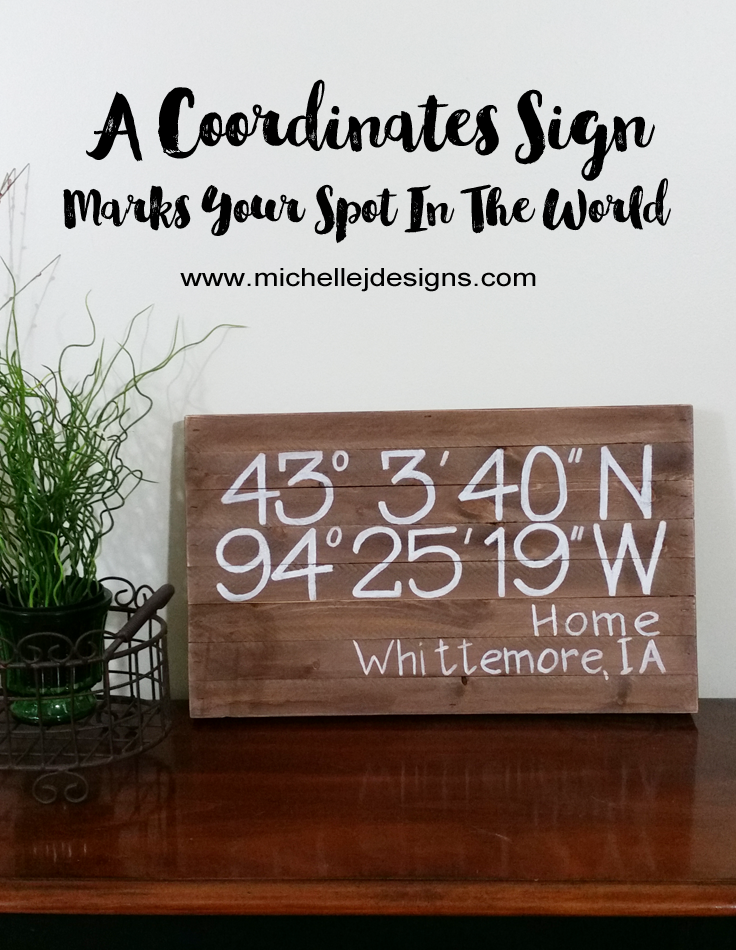 Michelle - July 12 - A Coordinates Sign - Pic 1 copy
