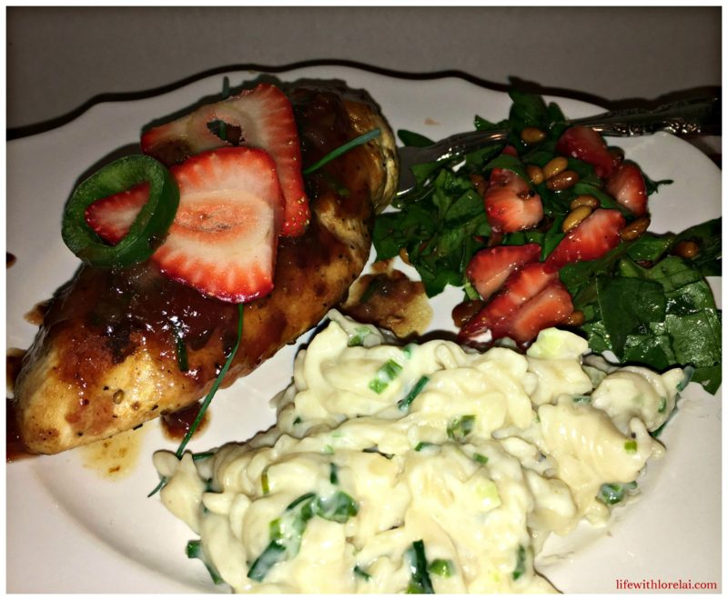 Strawberry-Jalapeno-Glazed-Chicken-Meal-Life With Lorelai-Recipe