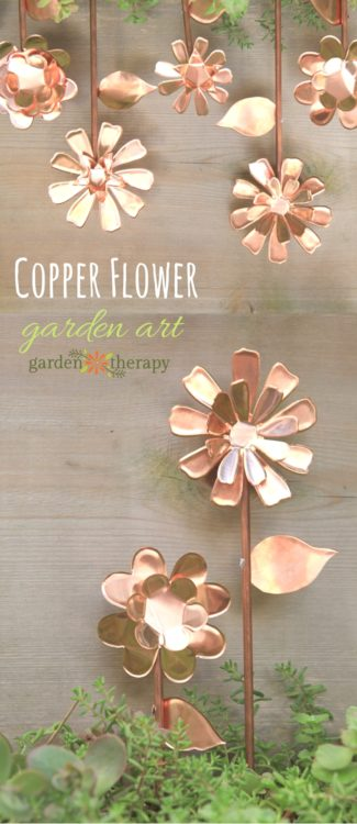 Copper Garden Art Flowers - Garden Therapy - HMLP 99 - Feature