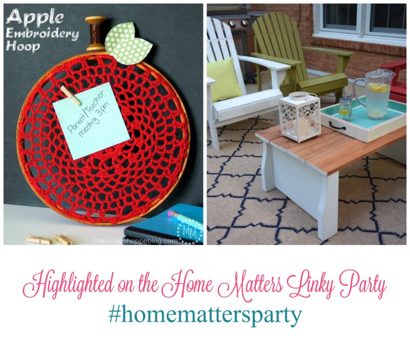 Home Matters Linky Party #101 + Giveaway - Come join the fun and link your blog posts -- Door Opens Friday EST. #HomeMattersParty #Giveaway #LinkyParty