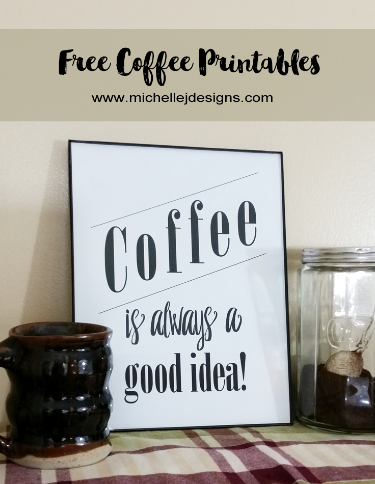5 Reasons To Love Coffee & Free Printables - regular contributor, Michelle James brings a couple fun & #free #coffee themed printables. #Printables #Decor