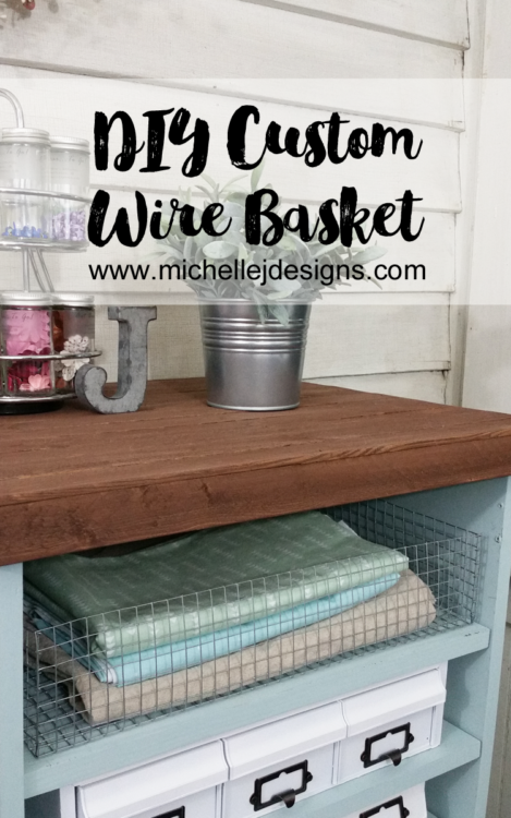 DIY Custom Wire Basket - Learn to make your own custom sized wire baskets. A great DIY for organization and decor. #DIY #Wire #Baskets