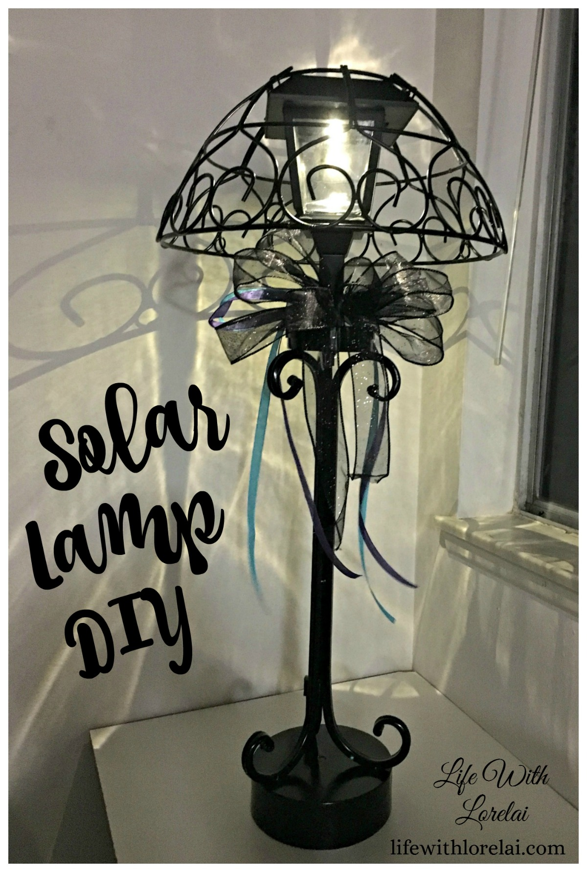 Add style to your outdoor living with this easy DIY project. Light up your evenings on the patio with a Solar Lamp.